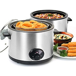Stainless Steel 5-quart Deep Fryer and Slow Cooker