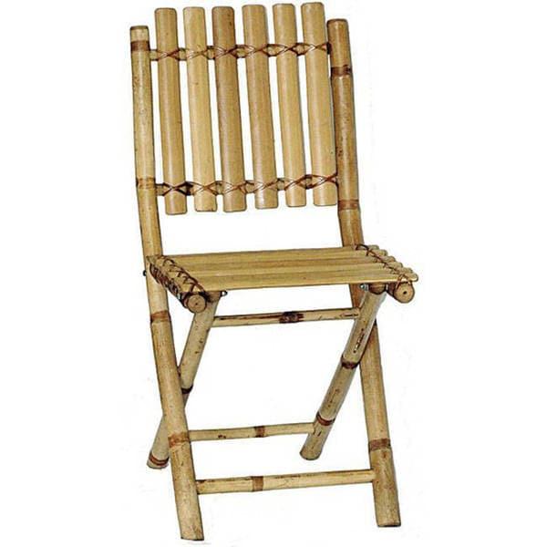 Handmade Set Of 2 Bamboo Folding Chairs (Viet Nam)