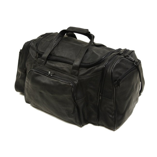 Piel Top Grain Leather 21 Inch Carry On Sports Duffel Bag