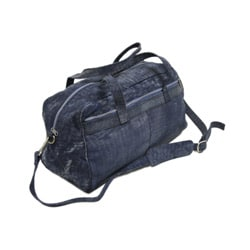 Piel Leather 18 Inch Denim Carry On Duffel Bag with Removable Straps - Thumbnail 1