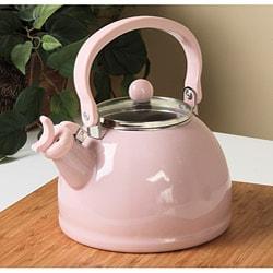Calypso Basics Pink Whistling Tea Kettle