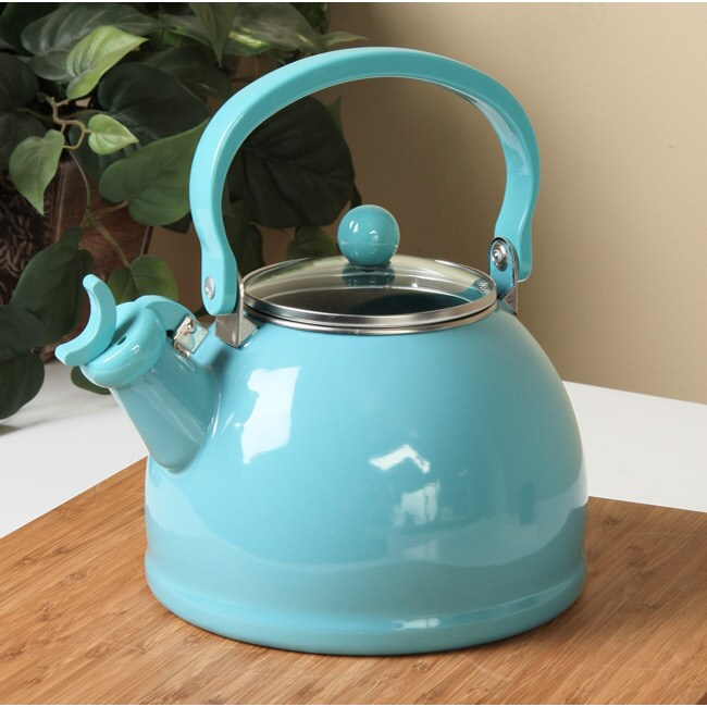 Calypso Basics Turquoise Whistling Tea Kettle