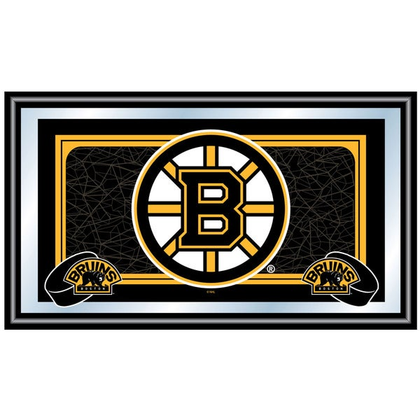 NHL Officially Licensed Wood Framed Mirror