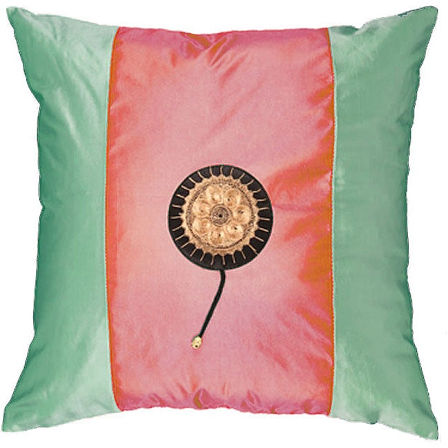 Asian Fuchsia/ Green Decorative Cushion Cover