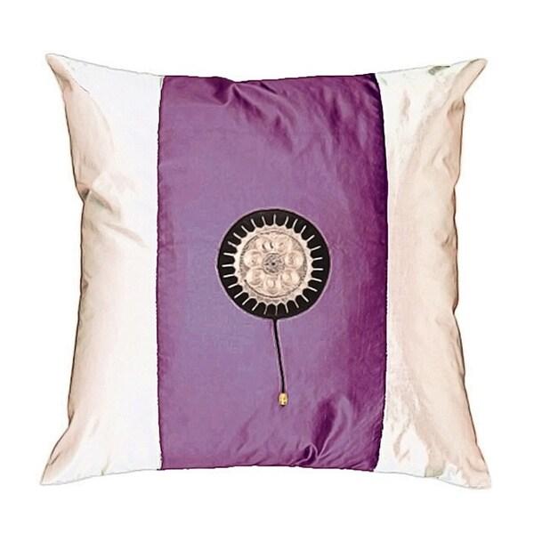 Lavender/ White Decorative Cushion Cover