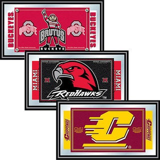 NCAA College Licensed Logo and Mascot Mirror