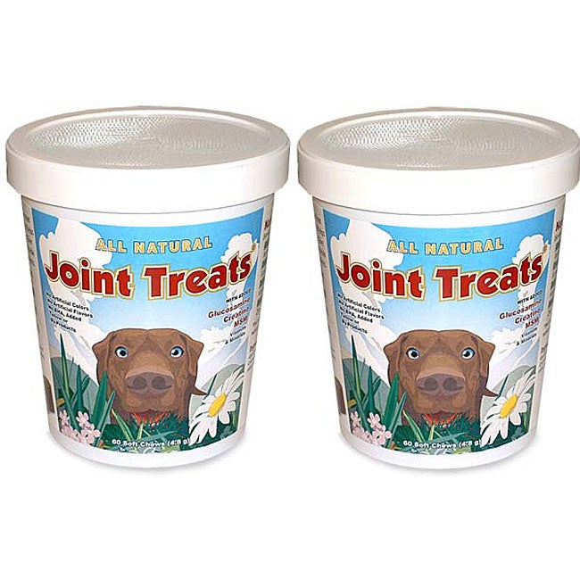 Joint Treats All Natural Supplement Minis 120 Soft Chews (Pack of 2)