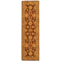 Safavieh Handmade Heritage Traditional Kerman Brown/ Blue Wool Runner Rug - 2'3 x 12'