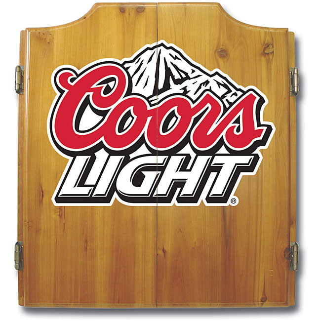 Officially Licensed Coors Light Logo Dart Cabinet Set