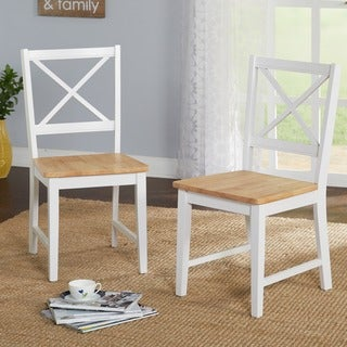 Simple Living Virginia Cross Back Chairs (Set of 2)
