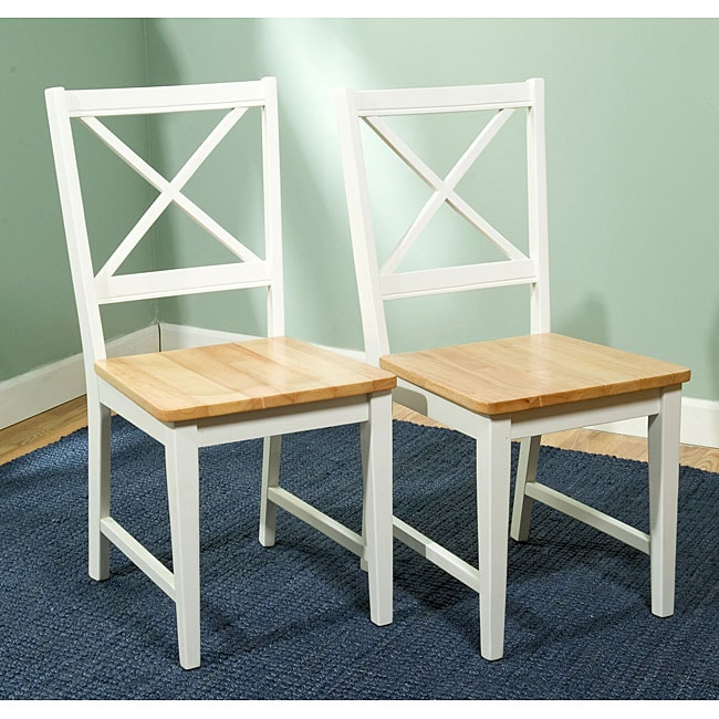 Simple Living Virginia Cross Back Chairs Set Of 2 Free