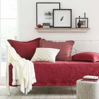 trellis scarlet 5piece day bed set