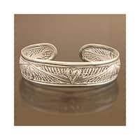 Handmade Sterling Silver 'Nature's Heart' Bracelet (Indonesia)