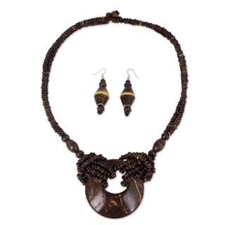 Coconut Shell 'Thai Princess' Jewelry Set (Thailand)