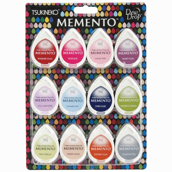 Memento Dew Drop Dye Ink Pads (Pack of 12)