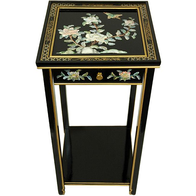 'Black Birds and Flowers' Oriental Pedestal (China)