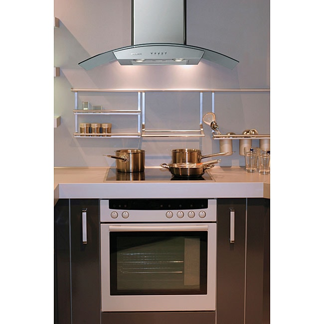 Curved Canopy 36-inch Wall-mounted Range Hood