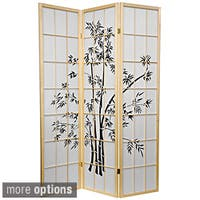 Handmade Wood and Rice Paper 6-foot Lucky Bamboo Room Divider (China)