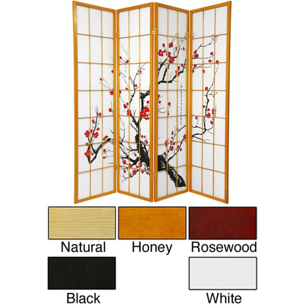 handmade wood and rice paper flower blossom 3panel room divider china free shipping today