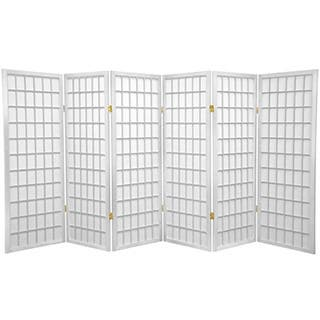 Handmade Wood and Rice Paper 4-foot 3-panel Shoji Windowpane Screen (China)|https://ak1.ostkcdn.com/images/products/3498881/P11568115.jpg?impolicy=medium