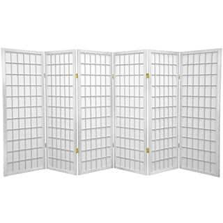 Handmade Wood and Rice Paper 4-foot 3-panel Shoji Windowpane Screen (China)|https://ak1.ostkcdn.com/images/products/3498881/P11568115.jpg?impolicy=medium