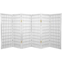 Handmade 4' Wood and Rice Paper Shoji Window Pane Screen