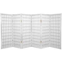 Handmade Wood and Rice Paper 4-foot 3-panel Shoji Windowpane Screen (China)