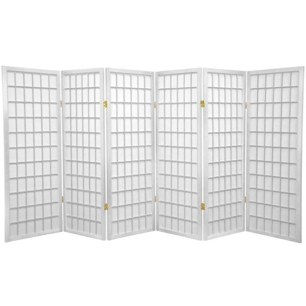 Handmade Wood/Rice Paper 4'3/4/5/6-Panel-Shoji Windowpane Screen. Opens flyout.