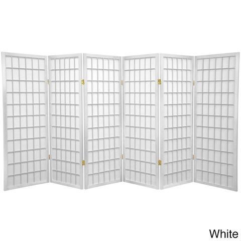 Handmade Wood/Rice Paper 4'3/4/5/6-Panel-Shoji Windowpane Screen