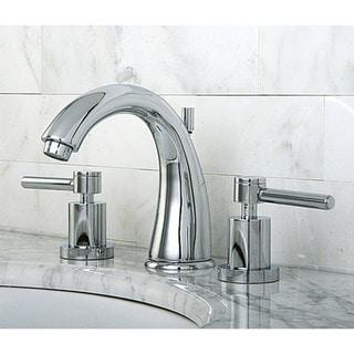 Concord Widespread Chrome-Finish Brass Bathroom Faucet