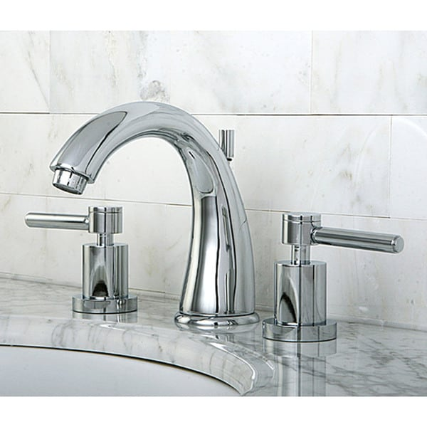 Widespread Vanity Faucet : Concord Widespread Chrome-Finish Brass Bathroom Faucet - Free Shipping ...