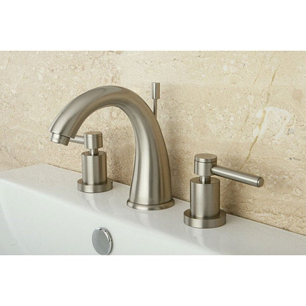 Satin Nickel Wideset Bathroom Faucet - Free Shipping Today ...
