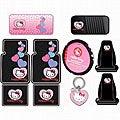 Hello Kitty Sanrio 10-piece Auto Accessory Set