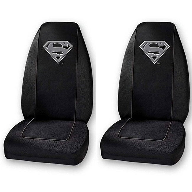 Superman Silver Shield Bucket Seat Covers (Set of 2)