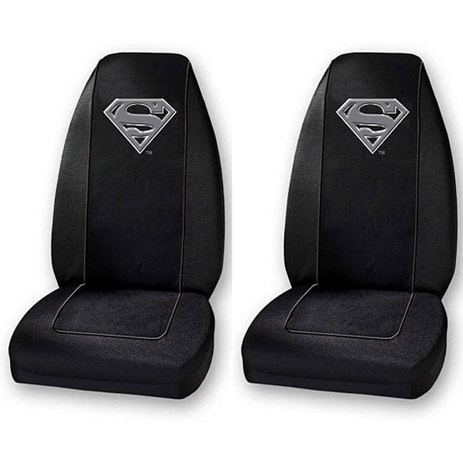 Thumbnail Superman Silver Shield Bucket Seat Covers Set Of 2