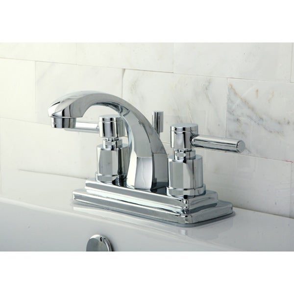 Shop Concord 4 Inch Centerset Bathroom Faucet Silver Free Shipping Today