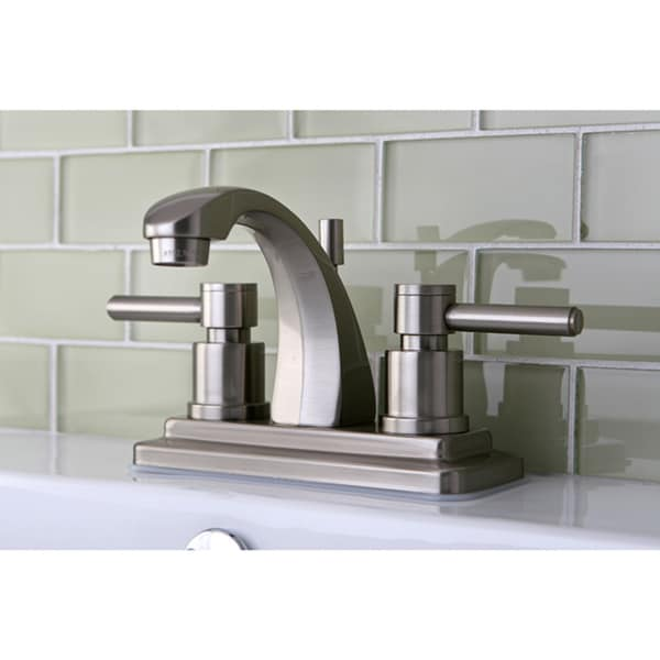 Concord 4 Inch Satin Nickel Centerset Bathroom Faucet