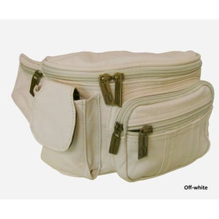 Amerileather Leather Cell Phone/ Fanny Pack (Option: Off-White)