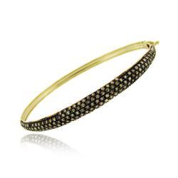 DB Designs 18k Gold and Silver 1 1/2ct TDW Chocolate Diamond Bracelet (I2)