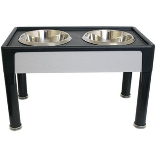 OurPets Signature Series 14-inch Black Pet Diner