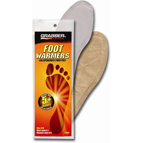 Grabber 5+ Hour Small/ Medium Foot Warmer Insoles (Pack of 30 Pair)
