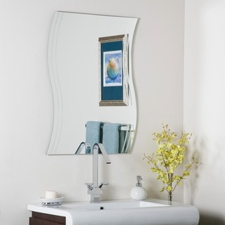 Link to Frameless Wave Wall Mirror - Clear - A/N Similar Items in Mirrors