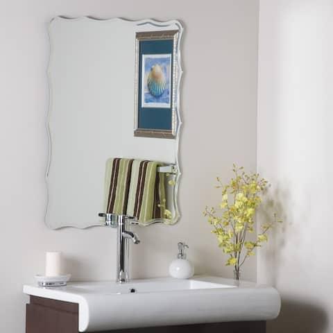 Frameless Ridge Mirror - 31.5 in. x 23.6 in. x 0.5in.