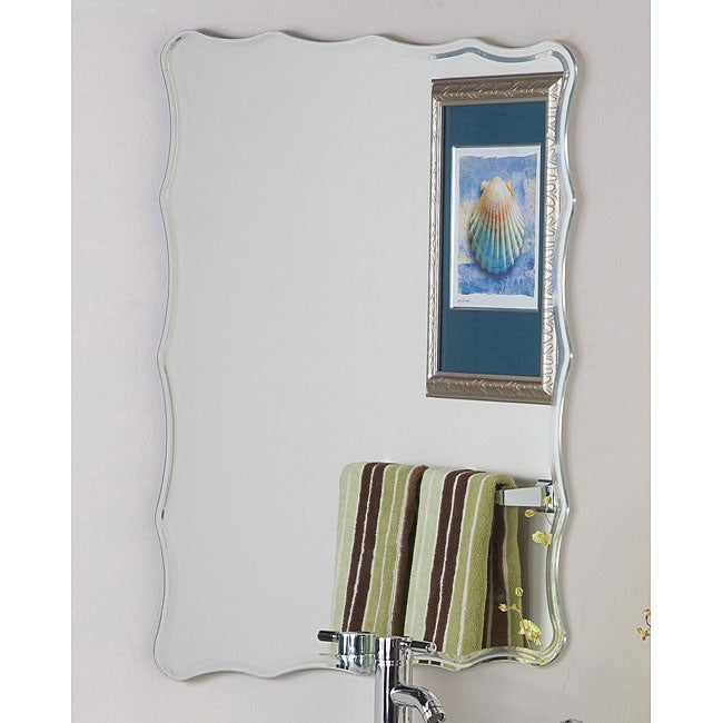 Frameless Ridge Mirror