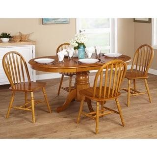 Beautiful Simple Living Farmhouse 5 Or 7 Piece Oak Dining Set