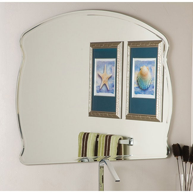 A Plus Thing Of Frameless Mirror Thumbnail Frameless Wide Wall Mirror - Silver - N-A ...