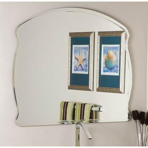 Frameless Wide Wall Mirror - Silver - A/N