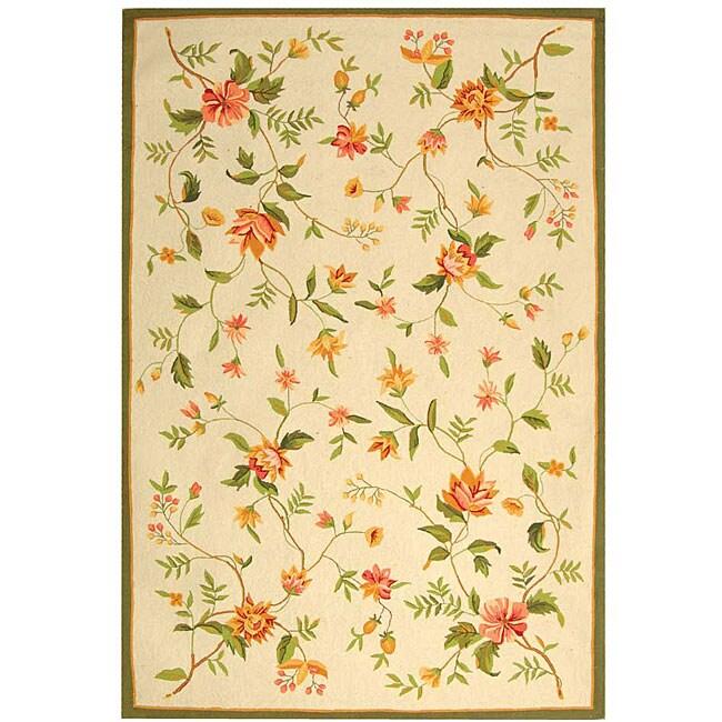 Safavieh Hand-hooked Garden Ivory Wool Area Rug (8'9 x 11'9)