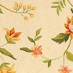 Safavieh Hand-hooked Garden Ivory Wool Area Rug (8'9 x 11'9) - Thumbnail 1