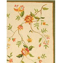 Safavieh Hand-hooked Garden Ivory Wool Area Rug (8'9 x 11'9) - Thumbnail 2